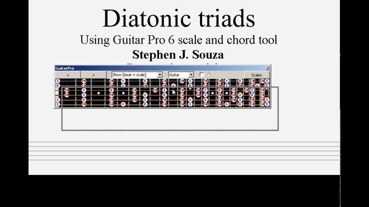 Guitar pro 6 tutorial diatonic triads part 1 youtube guitar pro 6 tutorial diatonic triads part 1 hexwebz Choice Image