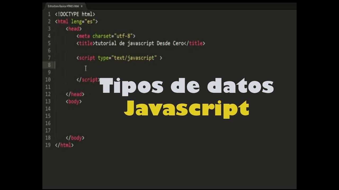 Javascript Tipos De Datos