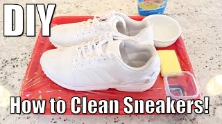 DIY: How to Clean Sneakers without