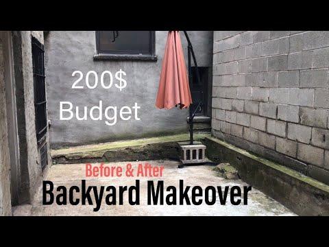 BACKYARD MAKEOVER ON A BUDGET (NYC RENTAL APT)