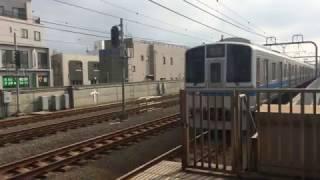 【鉄道動画】千歳船橋駅にて 小田急2000形到着シーン