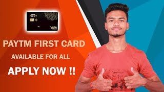 Paytm First Credit Card Apply Full Details !! Special Features !! How to Apply for Paytm First Card