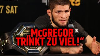 Khabib geht im Interview auf Conor McGregor! UFC 254 Fight Week
