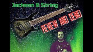 Jackson X Soloist Arch SLATX8Q 8 String Guitar Review and Demo