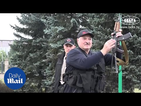 Belarus: President Alexander Lukashenko Carries RIFLE As Protesters Demand His Resignation