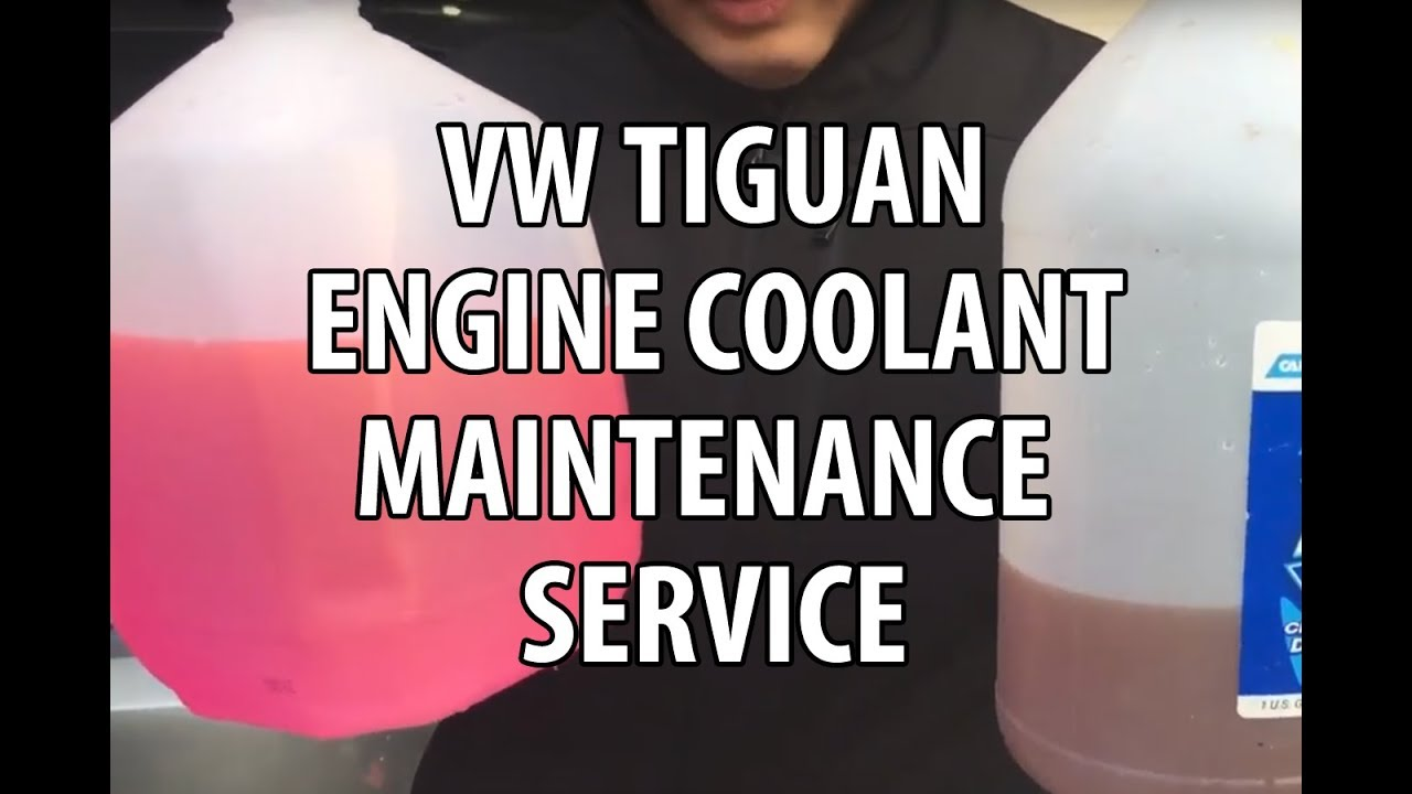 Vw Volkswagen Tiguan How To Mix Add Coolant Do Engine Beetle Drain Plug Maintenance Service
