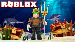 I AM AQUAMAN in ROBLOX SUPERHERO TYCOON
