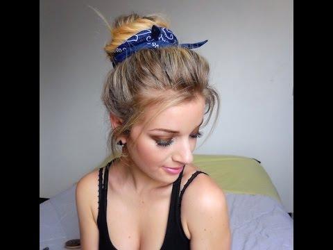 Chignon avec foulard Très Facile - YouTube