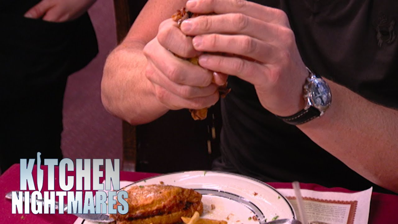 Gordon Squeezes The Fat Out Of His Sandwich | Kitchen Nightmares