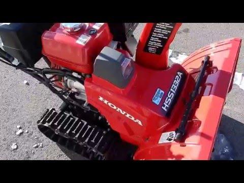 2016 Honda HSS1332ATD Snowblower Overview