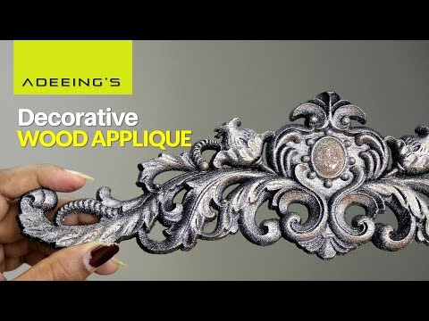 Beautifully Designed Wood Panel (Applique) for Home Decor