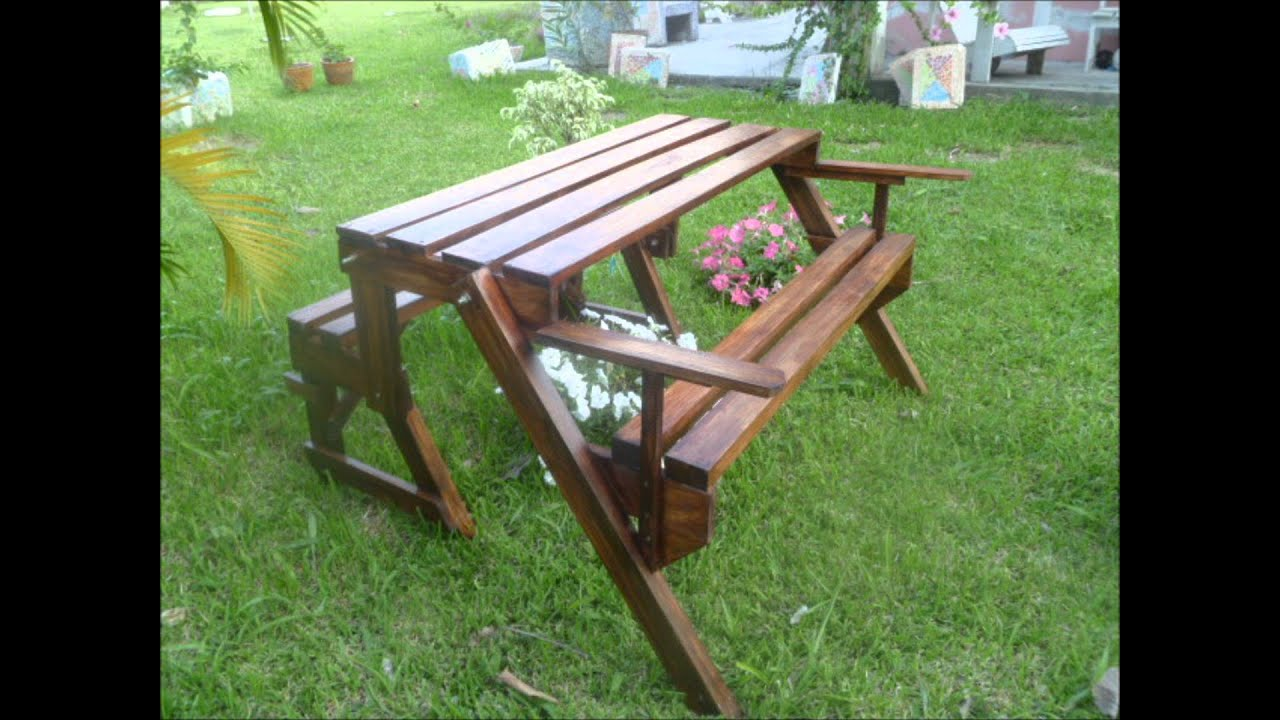 Youtube for Bancas de madera para jardin