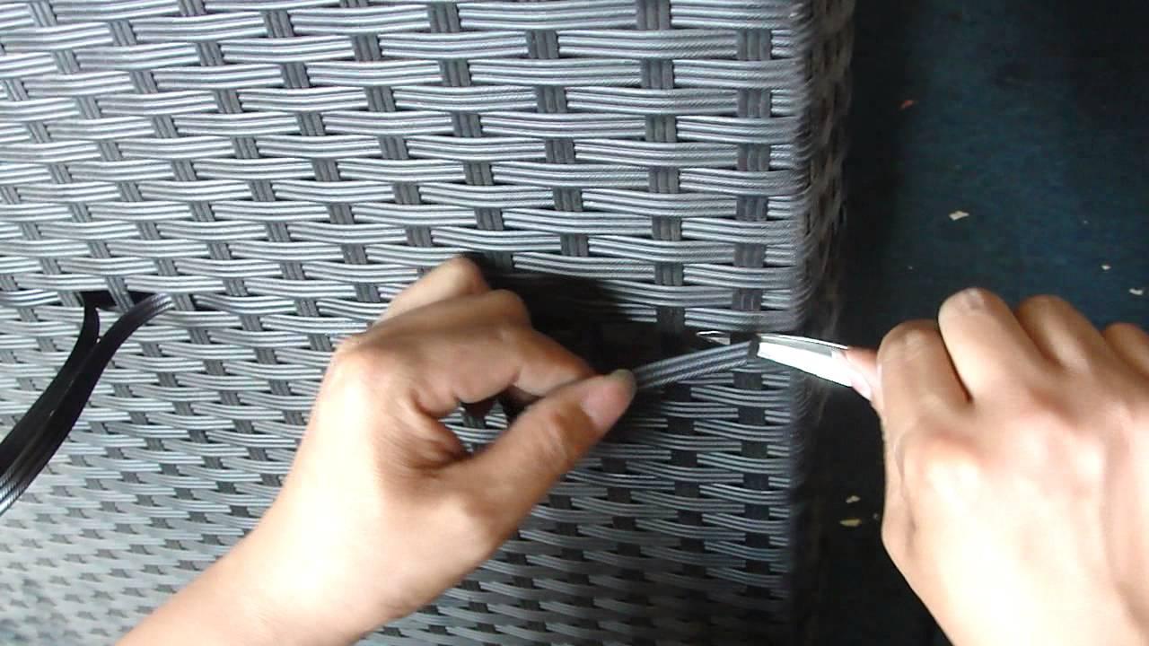 rattan repair Video - YouTube