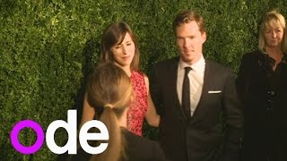Benedict Cumberbatch arrives with new fiancée and talks theatre