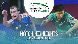 Tomislav Pucar vs Lin Yun-Ju | 2019 ITTF Challenge Oman Open Highlights (1/2)