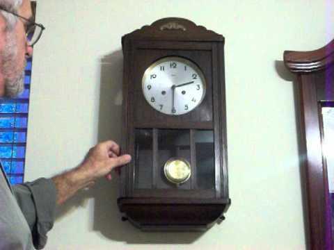 Antique Mauthe Bim Bam Wall Clock