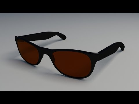Modeling a Pair of Sunglasses with Blender 3D