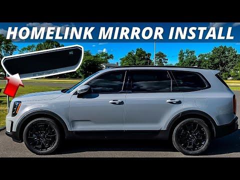 2021 Kia Telluride Homelink Mirror Install   DIY