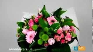 Букет Весенние цветы. Красивый букет на 8 марта. Заказать букет - SendFlowers.ua(Заказать букет Весенние цветы прямо сейчас: http://www.sendflowers.ua/product/vesennie_cvety Красивый и нежный букет отлично..., 2014-02-11T15:07:18.000Z)