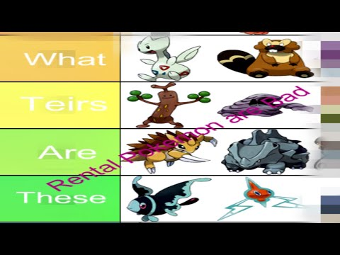 Pokemon Battle Revolution Rental Tier List