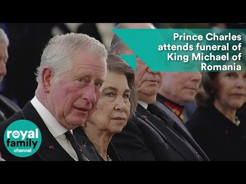 Prince Charles attends funeral of King Michael of Romania