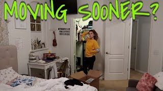 WILL WE MOVE SOONER? PACKING EMMA'S ROOM! MY PHYSICAL THERAPY ROUTINE!