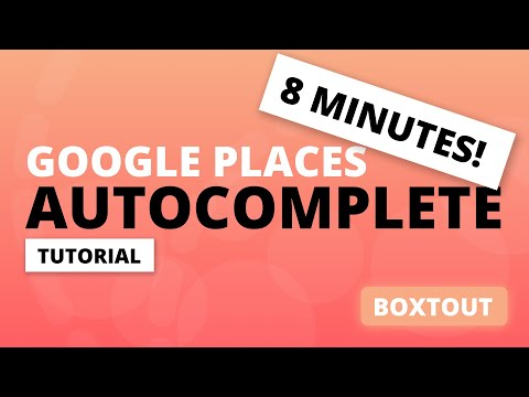 Flutter Auto Complete Tutorial with Google Places - In 8 Minutes