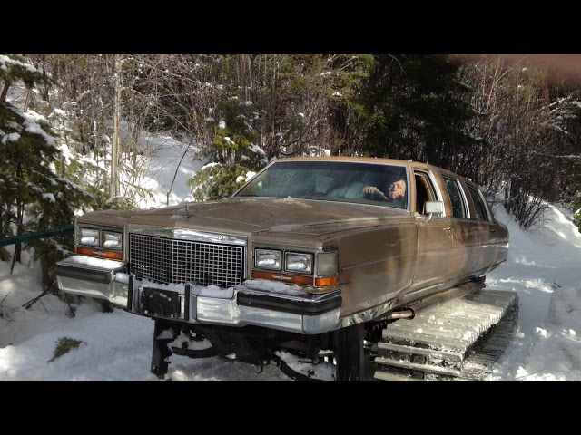 Rule The Slopes With This Cadillac Limousine Snowcat On Craigslist