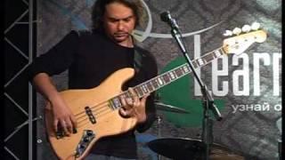 Антон Горбунов 3/8 урок по бас-гитаре 1-02-2009 LearnMusic