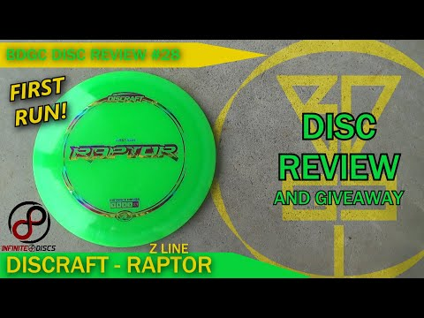 BDGC Disc Review #28: Discraft - Raptor (Giveaway ends 1/24)