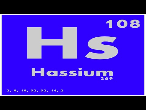 study guide 108 hassium periodic table of elements