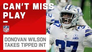 Easy INT Lands Right in Donovan Wilson's Hands