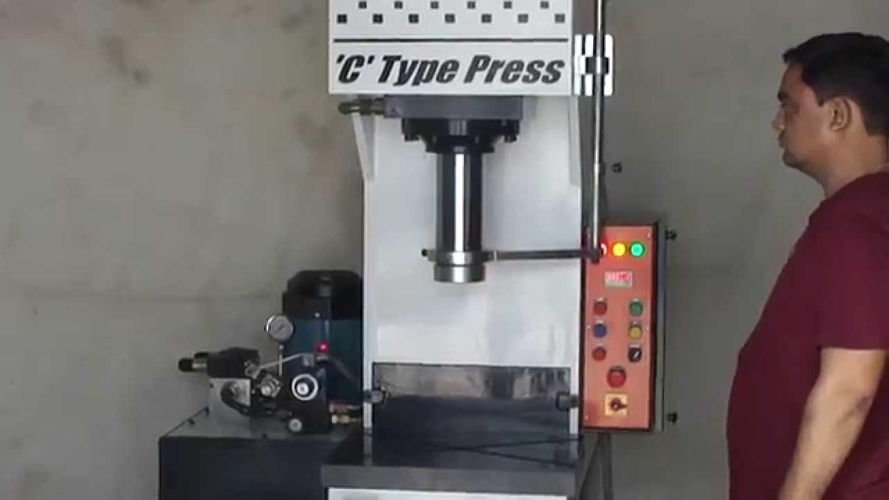 c type 40 ton hydraulic press machine youtube
