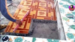 วิธีปูกระเบื้องในพื้นที่ขนาดเล็ก แบบง่ายๆ Tile floor installation in a small area and easy