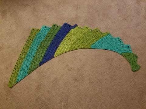 Dragon Wing Shawl Crochet Tutorial