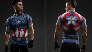 The Best Captain America Civil War Compression 3D Workout Short Sleeves T-Shirt ever