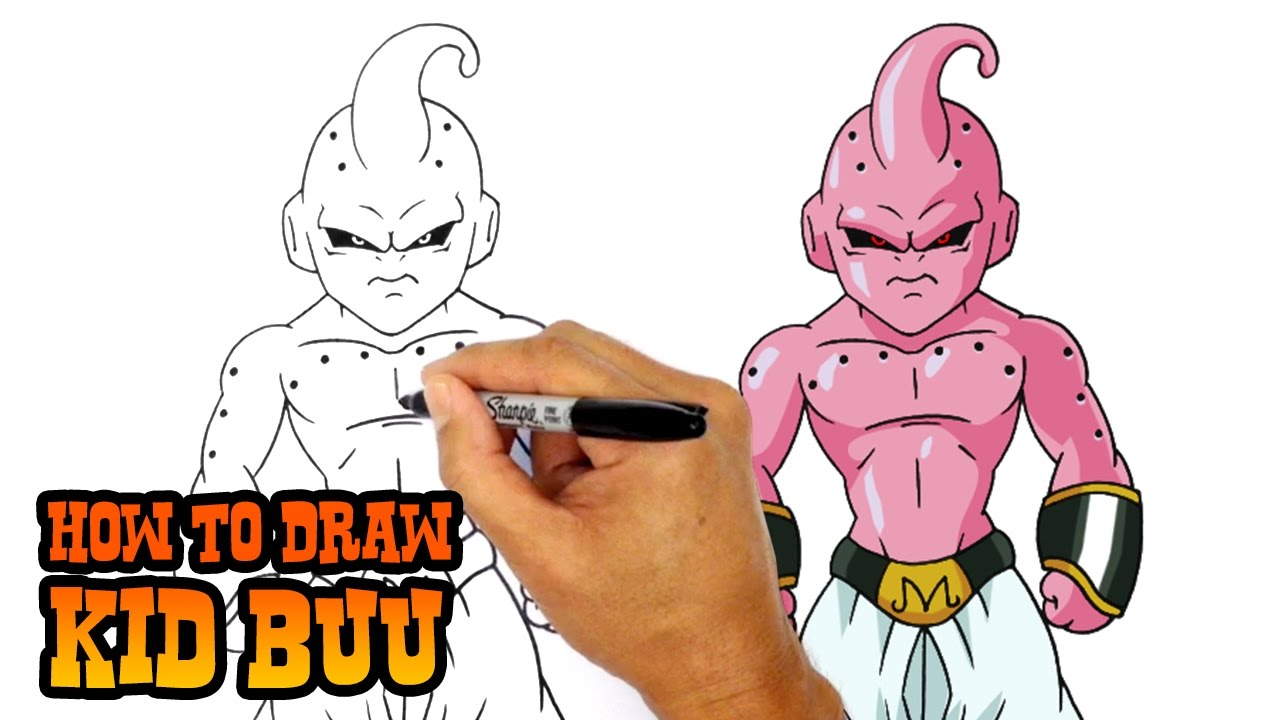 How To Draw Kid Buu Dragon Ball Z