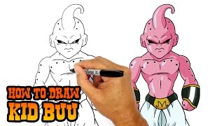 How to Draw Kid Buu | Dragon Ball Z