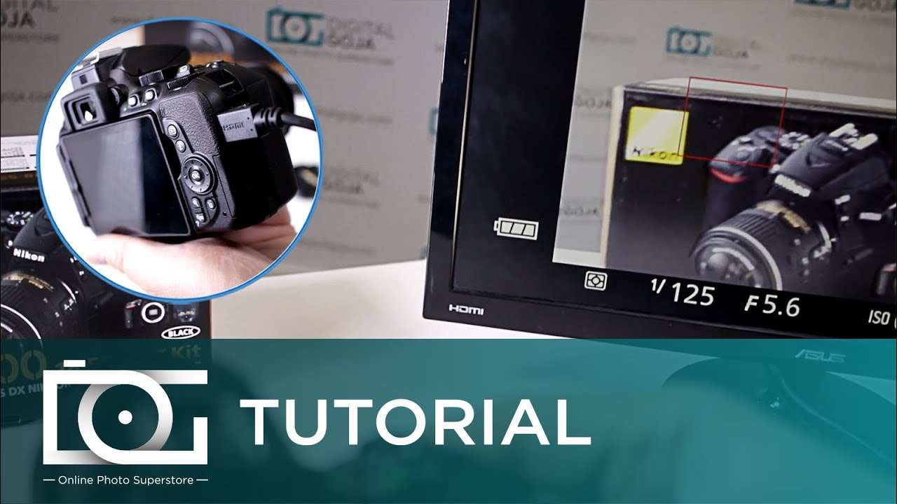 NIKON D5500 TUTORIAL   Can I Connect a Monitor to my Camera for External  Viewing?