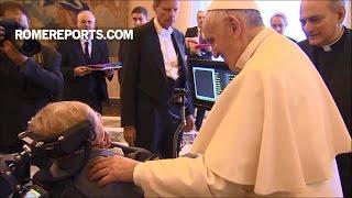 Đức Giáo Hoàng nói về vấn đề thay đổi khí hậu trước Stephen Hawking và các nhà khoa học khác