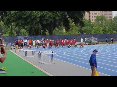 11-12 boys 100m dash finals, Icahn Stadium