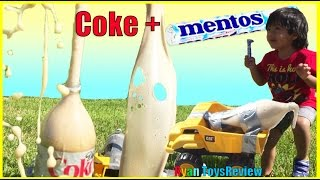 DIET COKE AND MENTOS EXPERIMENT CHALLENGE Easy science experiment for kids Toys Cars Ryan ToysReview thumbnail