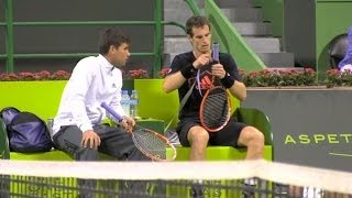 Andy Murray Training session in Doha, Quatar - Part2