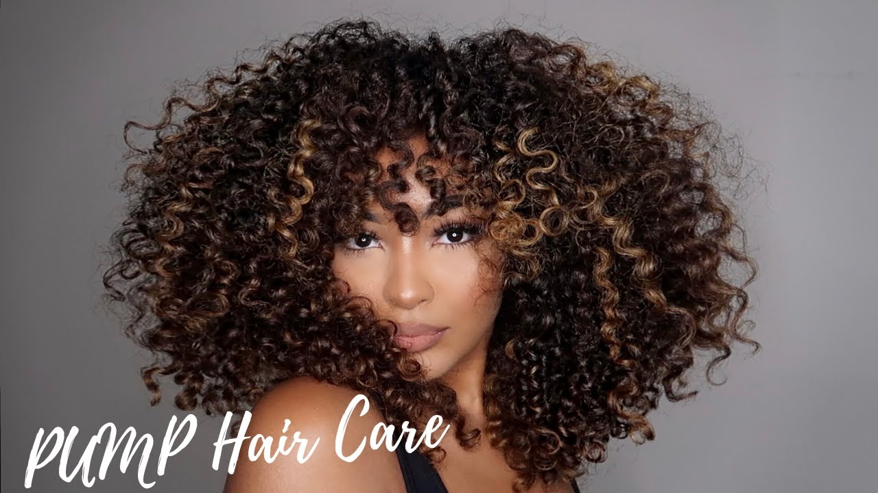 Curly Wash Style Routine W Pump Hair Care Alexandra Nx Youtube