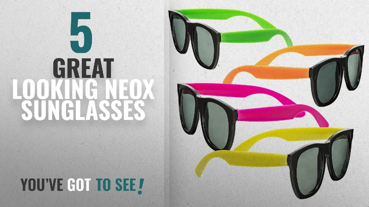 Top 10 Neox Sunglasses 2018 Neon Sunglasses 80s Style Colorful
