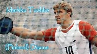 Markku Tuokko (Finland) Discus .