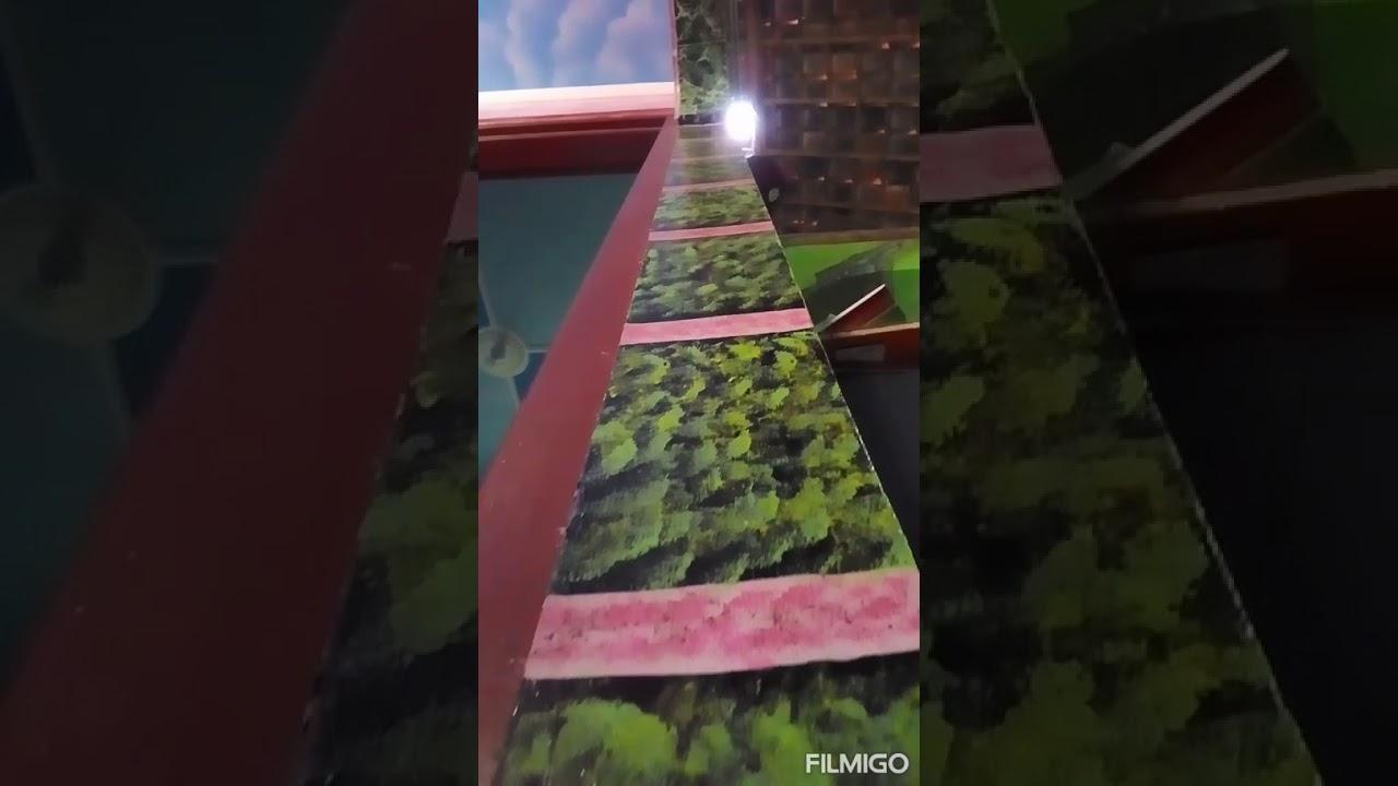 Cat tembok motif granit ijo lumut - YouTube