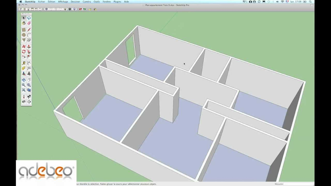 Tutoriel sketchup 9 outil pousser tirer youtube for Outil miroir sketchup