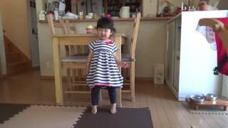 1歳10ヶ月の体操.