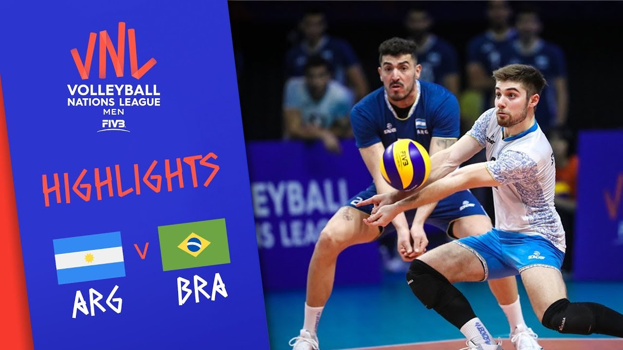 Argentina Vs Brazil Highlights Men Week 2 Volleyball Nations League 2019 Youtube